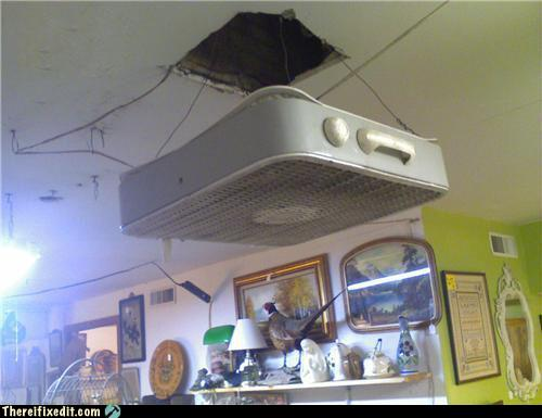 Funny Photo Of The Day For Sunday 19 December 2010 From Site There I Fixed It Ceiling Fan Is Cooling You