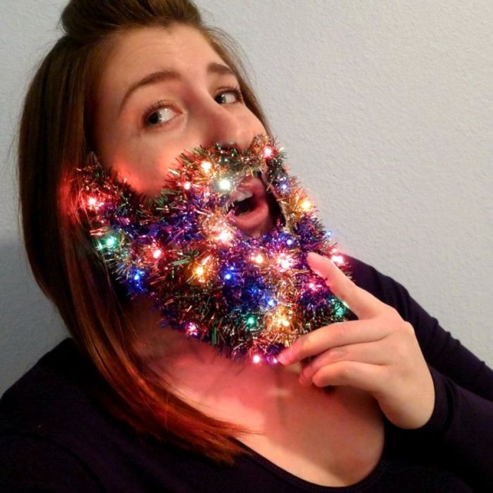 permalink to funny photo of the day christmas lights beard - Christmas Beard