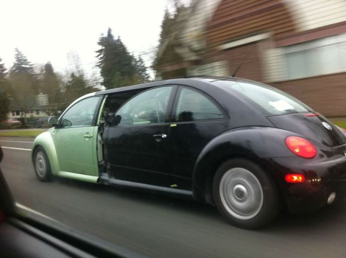 Funny Photo of the day for Tuesday, 21 January 2014 from site Jokes of The Day - Beetle limousine
