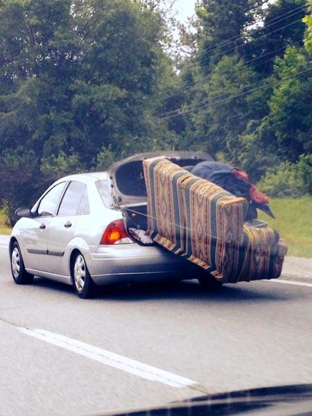Funny Photo Of The Day   Now, That Is Safe Sofa Transportation