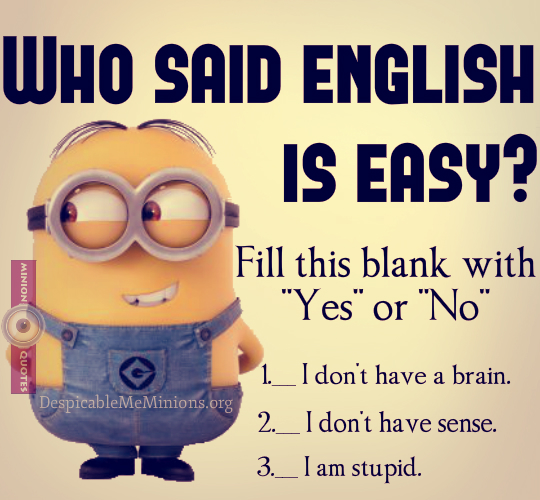 Joke for Thursday, 26 November 2015 from site Minion Quotes - Who ...