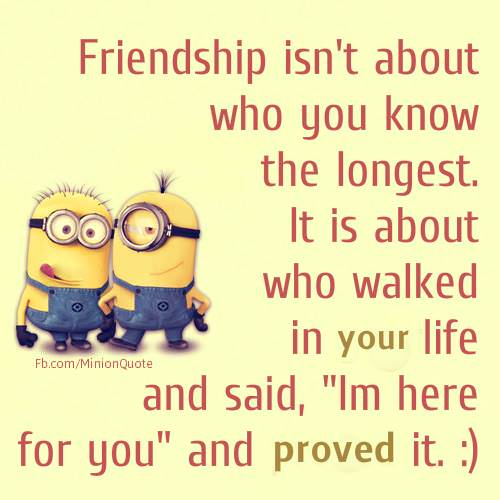 I Love You Quotes Minions : ... 2016 from site Minion Quotes - Friendship isnt about who you know