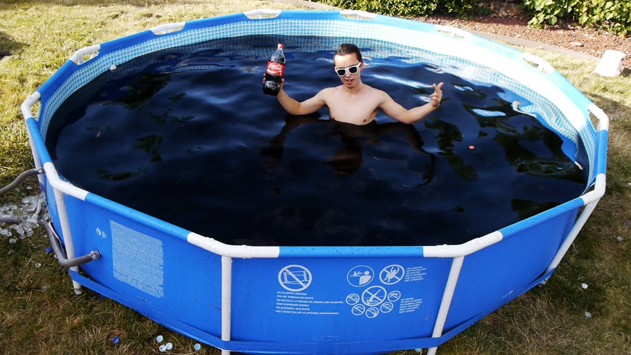 swimming pool. Contemporary Swimming Funny Photo Of The Day  Swimming In Giant 1500 Gallon CocaCola  Pool To